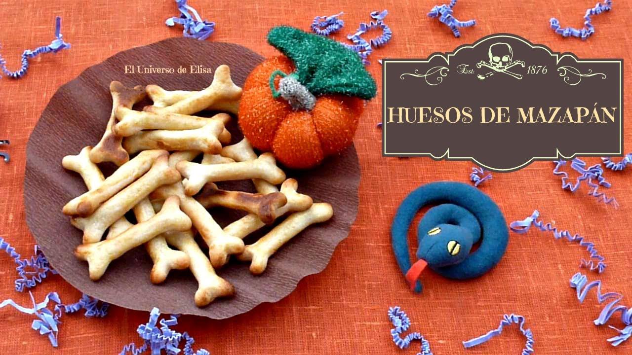 Recetas para Halloween y el Día de los Muertos,Tibias o Huesos de Mazapán