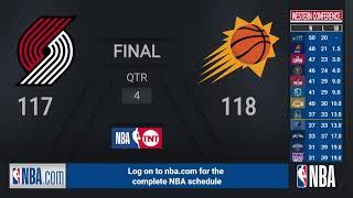 Trail Blazers @ Suns   NBA on TNT Live Scoreboard
