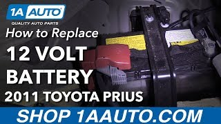 How to Replace Battery 10-15 Toyota Prius