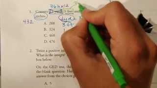 GED Practice Test Problems 1 to 3