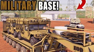 BUILDING MILITARY BASE ON FS19 | HUMVEE + TANKS | FARMING SIMULATOR 2019