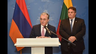 The joint press conference of the foreign ministers of Armenia and Lithuania