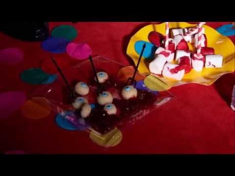 Recettes d'Halloween : yeux et marshmallows sanglants