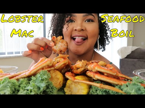 LOBSTER MAC AND CHEESE | SNOW CRAB BOIL | Shai Snacks EATING SHOW