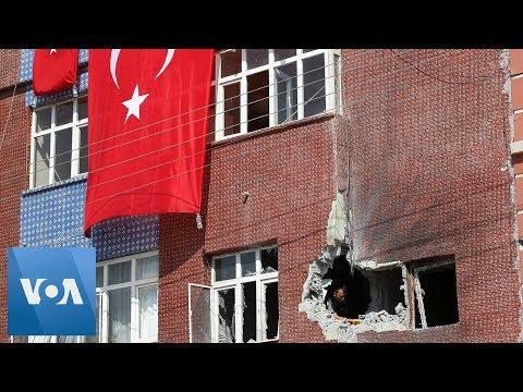 Mortar Bullet Hits House in Akcakale, Turkey on Syria Border