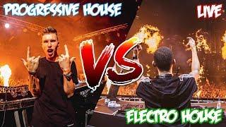 Progressive House VS Electro House [ LIVE DUO MIX ]