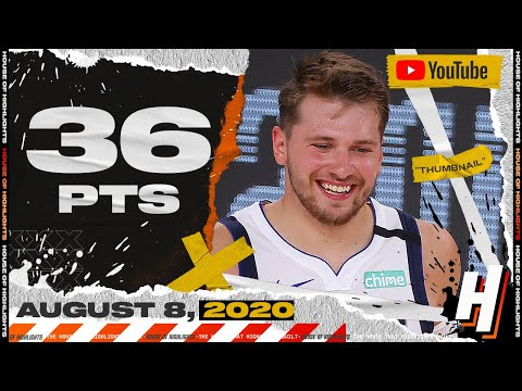 Luka Doncic Triple-Double 36 PTS 19 Ast 14 Reb Full Highlights | Bucks vs Mavericks | August 8, 2020