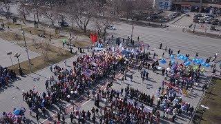 Первомайская демонстрация в Тюмени