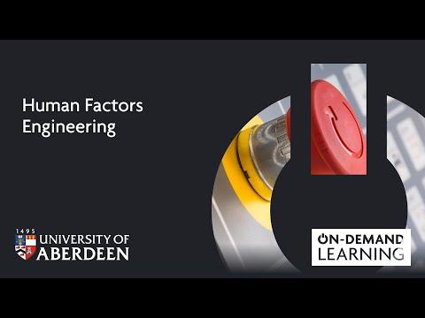Human Factors Engineering - Online short course - YouTube