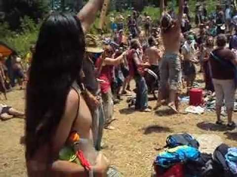 Cherokee dancing at Rainbow Gathering 2012