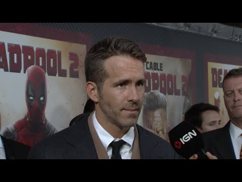 Interviewer shows Ryan Reynolds his book report on Dead Pool from the fifth grade and Ryan proposes to him.