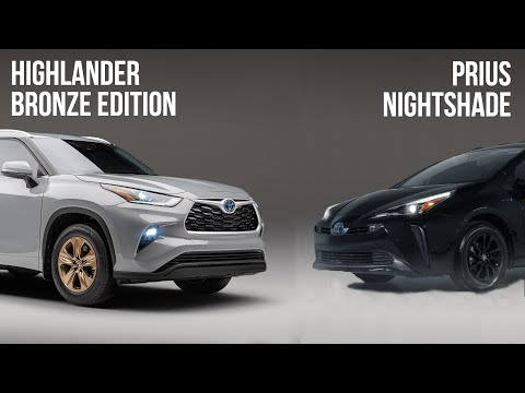 The Toyota Highlander Bronze Edition And Prius Nightshade Attempt To Make Hybrids Edgy
