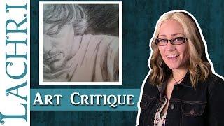 Charcoal Portrait Art Critique - Tips W/ Lachri