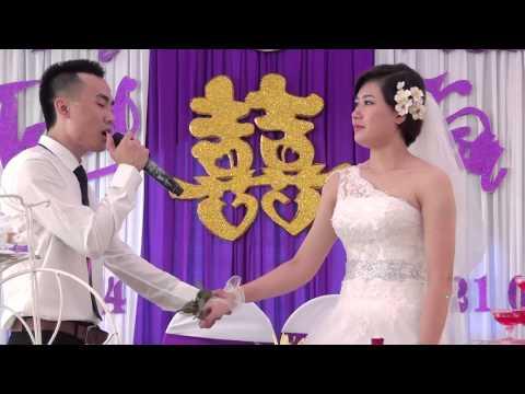 Chú rể hát tặng cô dâu vô cùng cảm động