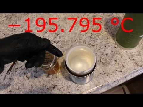 Freezing Honey With Liquid Nitrogen