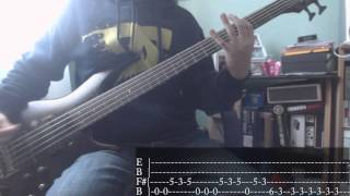 Nu Metal's week - 07 - Slipknot - Duality [Bass Cover + Tab]