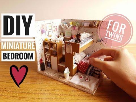 Diy Miniature Bedroom Kit For Twins David And Daniel 5 Video