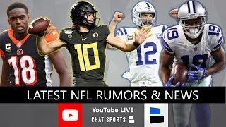 NFL Rumors, 2020 NFL Combine, Andrew Luck Returning? Amari Cooper Eagles? + Justin Herbert Draft