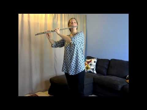 J.S. Bach Minuet number 2 from Suzuki Flute Volume 1.  Play all happy-like! Don't forget to move; it's a dance!