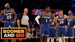 The Nuggets SLAM the Knicks!   Boomer & Gio