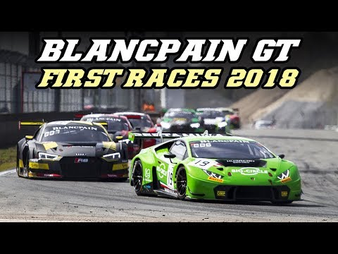 Blancpain GT first race weekend (Zolder 2018) - Pure GT3 sounds, crashes and downshifts