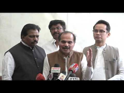 Adhir Ranjan Chowdhury addresses media in Parliament House on the Onion Price Hike
