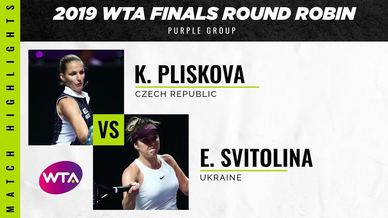 Обзор матча Элина Свитолина - Каролина Плишкова на WTA Finals (ВИДЕО)