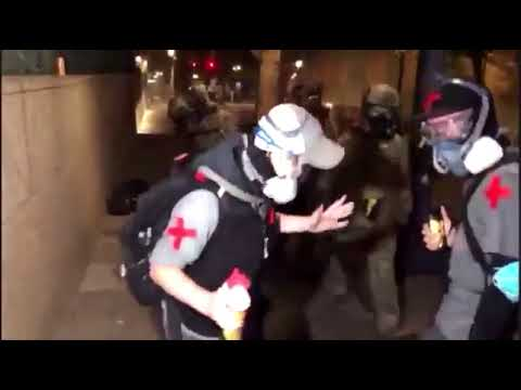 Trump's Gestapo Attack Two Medics In Portland