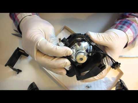 Beamer Lampe wechseln (nur Birne) /Change Beamer Lamp (Bulb)