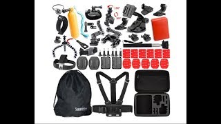 GoPro Hero 5 Black Somate Action Camera Accessories Kit 46 piece kit review