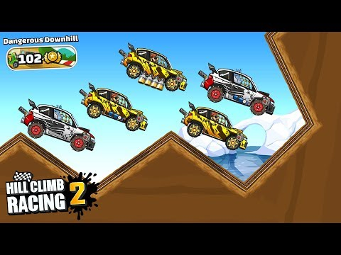 Hill Climb Racing 2 - DANGEROUS DOWNHILL - New Event GAMEPLAY