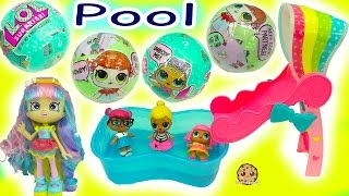 Shoppies Babysitting Babies at Pool LOL Surprise Baby Dolls In Blind Bag Ball ,  Color Change ?