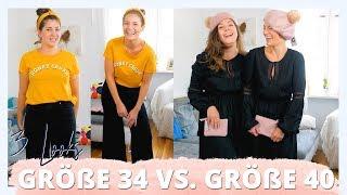 3 LOOKS GRÖßE 40 VS. GRÖßE 34 VERGLEICH | Welcher Figur steht es besser? | #kleinundkurvig