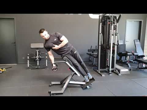 Dumbbell Roman Chair Side Bend