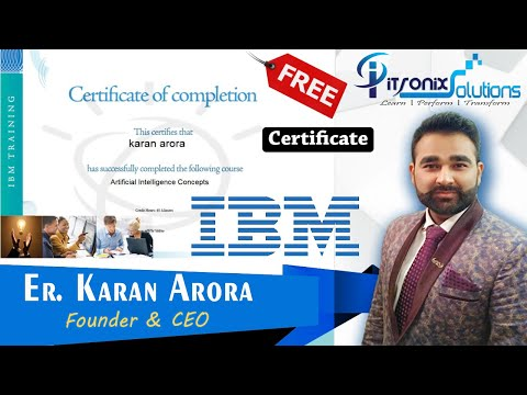 IBM Training and Certifications - Artificial Intelligence Free ...