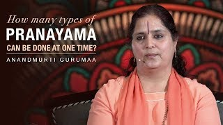 How many types of pranayama can be done at one time? | Anandmurti Gurumaa (Hindi) - Download this Video in MP3, M4A, WEBM, MP4, 3GP