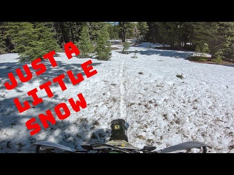 Alpine Trail Riding Oregon - We Ran Into Some Snow - Edison Butte OHV