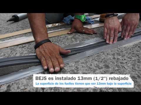 Instalación BEJS de EMSEAL – Sistema de Juntas de dilatación para Puentes