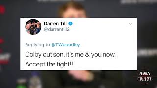 Darren Till & Tyron Woodley go back & forth about a potential fight