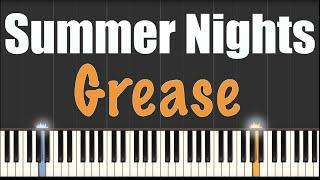 Summer Nights - Grease - Piano Tutorial