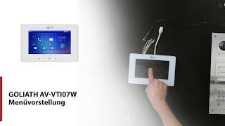 GOLIATH WLAN Innenstation AV-VTI07W Menüvorstellung für die IP Videotürsprechanlage