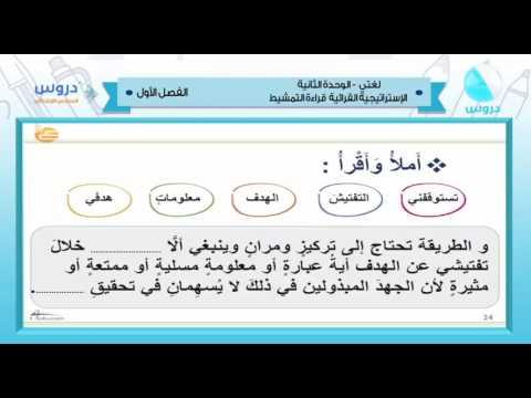 شرح درس قراءة التمشيط اللغة عربية الصف السادس الابتدائي نفهم