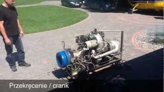 Rozruch silnika GTD-350 | GTD-350 engine start-up