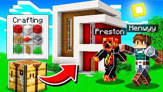 CHEATING with AUTO HOUSE BUILD MOD in Minecraft!