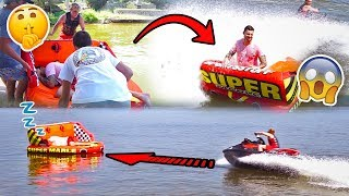 SAVAGE RAFT WAKE UP PRANK IN THE MIDDLE OF A  LAKE **SORRY CHAD**