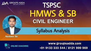 HMWSSB Notification ll Syllabus Analysis ll Civil Engineering ll TSPSC ll Online Classes ll