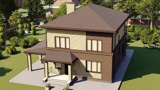 Проект дома 152-A, Площадь дома: 152 м2, Размер дома:  9,4x11,6 м
