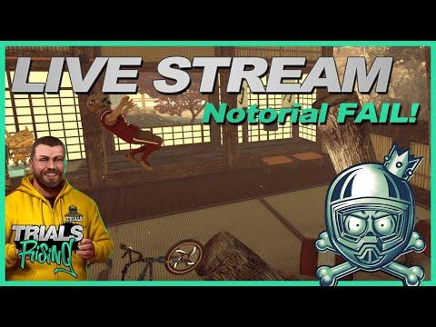 Trials Rising Live Stream - May 17 2019 - Orange Belt Notorial Fail