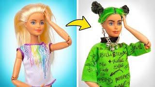 Barbie-Verwandlung | DIY Billie-Eilish-Puppe