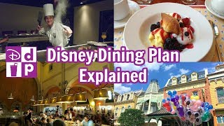 Disney Dining Plan In Detail | Table Service